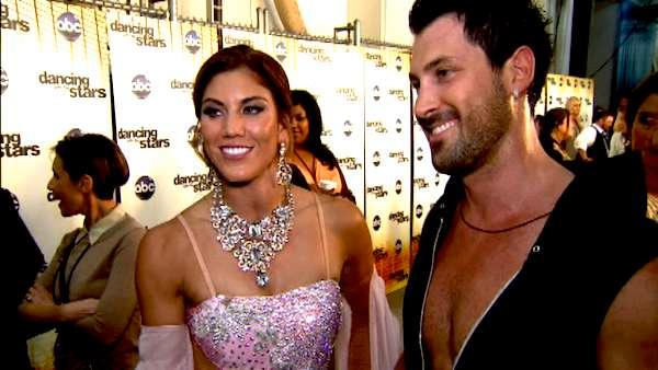 Hope Solo talks to OnTheRedCarpet.com after the premiere of 'Dancing With The Stars' on September 19, 2011.