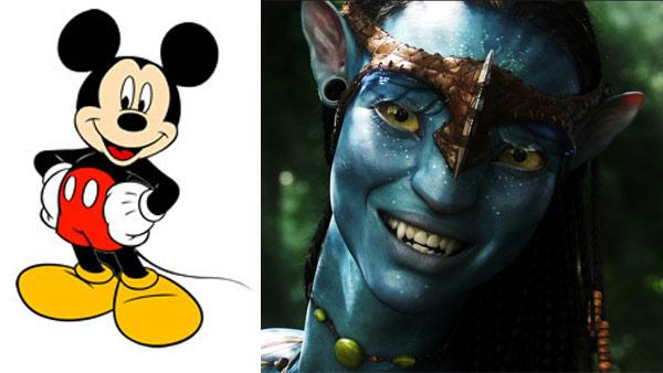 Mickey Mouse / Zoe Saldana appears in a scene from the 2009 film Avatar. - Provided courtesy of Walt Disney Company / 20th Century Fox