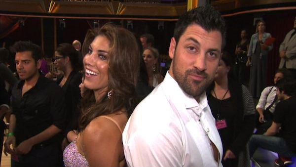 Hope Solo talks to OnTheRedCarpet.com after first 'Dancing With The Stars' results show on Sep. 20, 2011.
