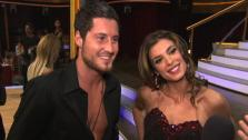 Elisabetta Canalis talks to OnTheRedCarpet.com after first Dancing With The Stars results show on Sep. 20, 2011.