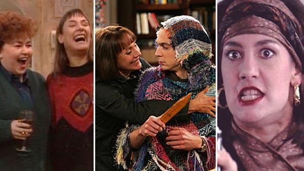 Laurie Metcalf appears in scenes from Roseanne, The Big Bang Theory and Uncle Buck. - Provided courtesy of Wind Dancer Productions / Carsey-Werner Company / Paramount Television / ABC / CBS / Universal Pictures