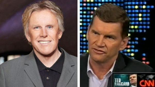 Gary Busey appears in a promotional photo for Celebrity Apprentice in 2011. / Ted Haggard appears on Larry King Live in 2009. - Provided courtesy of NBC / CNN
