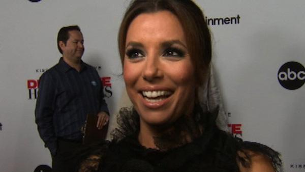 Eva Longoria talks to OnTheRedCarpet.com at a Los Angeles event celebrating the premiere of the eighth and final season of the ABC show Desperate Housewives on Sept. 21, 2011. - Provided courtesy of OTRC