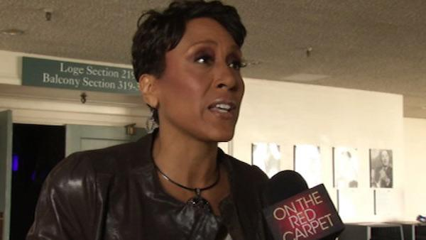 Robin Roberts speaks to OnTheRedCarpet.com in California in March 2011.