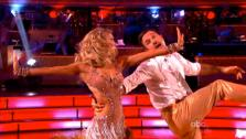 Actor David Arquette and his partner Kym Johnson appear on Dancing With The Stars on Monday, Sept. 26, 2011, for the 13th seasons second round of performances. - Provided courtesy of ABC / Adam Taylor