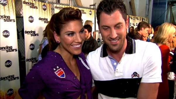 Hope Solo talks to OnTheRedCarpet.com after the September 26 episode of 'Dancing With The Stars.'