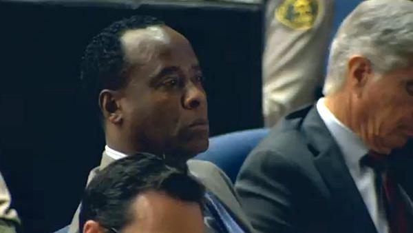 Sept. 27, 2011: Dr. Conrad Murray, charged in Michael Jacksons death, appears in court at his involuntary manslaughter trial. - Provided courtesy of KABC