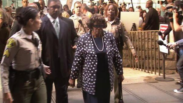 Michael Jackson's mother Katherine Jackson arrives to court for the trial of Conrad Murray on Tuesday, Sept. 27, 2011.