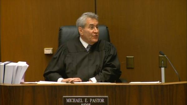 Superior Court Judge Michael Pastor address jurors on Tuesday, Sept. 27, 2011, at the trial of Conrad Murray, the doctor accused of killing Michael Jackson.