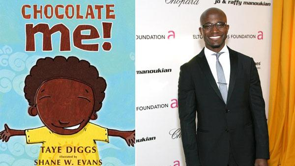 A photo of the cover of Taye Diggs childrens book Chocolate Me! / Taye Diggs is known as a theater, film and television actor and can now add a new title to his resume: Childrens book author. - Provided courtesy of Feiwel and Friends / flickr.com/photos/chicagofabulous/