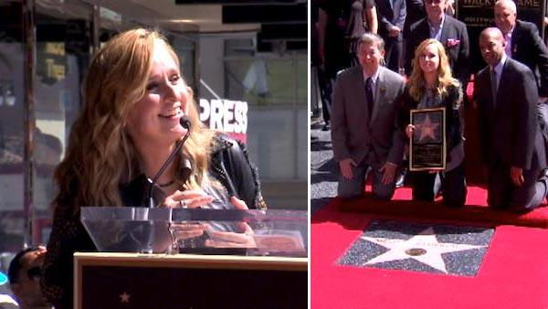 Melissa Etheridge gets Hollywood star (Video)