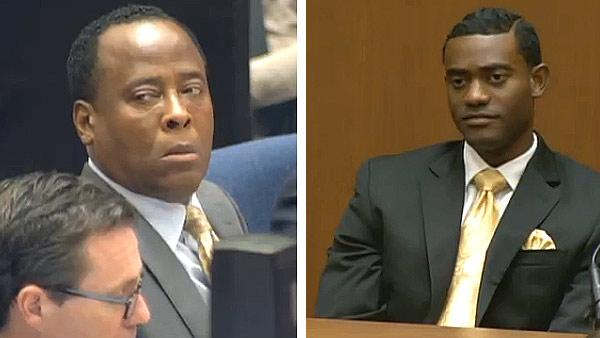 Conrad Murray appears at his involuntary manslaughter trial, over the death of Michael Jackson, on Sept. 28, 2011. / Michael Jacksons assistant, Michael Amir Williams, testifies at the trial the same day. - Provided courtesy of OTRC