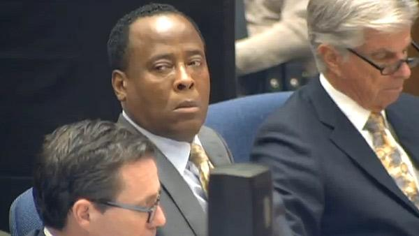 Conrad Murray appears at his involuntary manslaughter trial, over the death of Michael Jackson, on Sept. 28, 2011. - Provided courtesy of OTRC