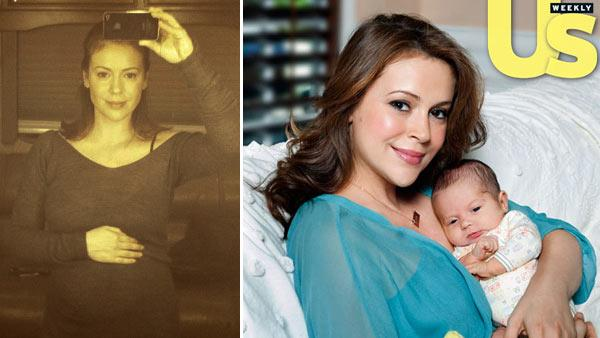 Actress Alyssa Milano appears in a photo posted on her official website on Monday, March 14, 2011. / Alyssa Milano appears in a photo from the September 28 issue of Us Weekly magazine. - Provided courtesy of alyssa.com / Us Weekly