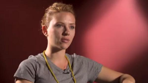 Scarlett Johansson appears in a still from a September 24, 2011 interview with CNN. - Provided courtesy of OTRC / CNN