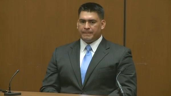 Michael Jackson's bodyguard Alberto Alvarez speaks at Conrad Murray's involuntary manslaughter trial on Sept. 29, 2011.
