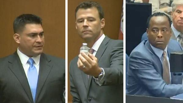Sept. 29, 2011: Alberto Alvarez, Prosecutor David Walgren and Dr. Conrad Murray, charged in Michael Jacksons death, appear in court at the physicians involuntary manslaughter trial. - Provided courtesy of OTRC