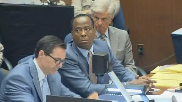 Sept. 29, 2011: Dr. Conrad Murray, charged in Michael Jacksons death, appears in court at his involuntary manslaughter trial. - Provided courtesy of OTRC