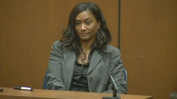 Kai Chase, Michael Jackson's personal chef, is seen here testifying at Conrad Murray's inv