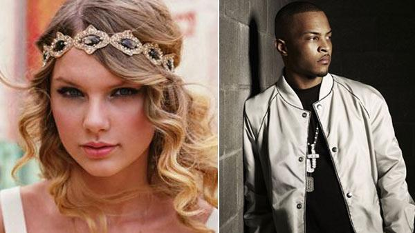 Taylor Swift appears in an undated photo from her official website, TaylorSwift.com./ T.I. appears in an undated photo from his official website, trapmuzik.com. - Provided courtesy of TaylorSwift.com / trapmuzik.com