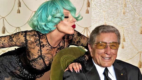 Lady Gaga and Tony Bennett appear in a still from their The Lady Is a Tramp music video. - Provided courtesy of Sony Music Entertainment