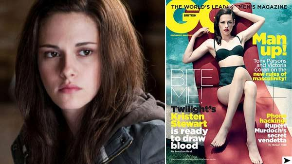 Kristen Stewart appears in a still from the 2010 film, The Twilight Saga: Eclipse and on the 2011 November cover of GQ magazine. - Provided courtesy of Summit Entertainment / GQ