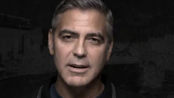 George Clooney appears in a 2011 PSA for one.org titled The F Word: Famine is the Real Obscenity. - Provided courtesy of OTRC / one.org
