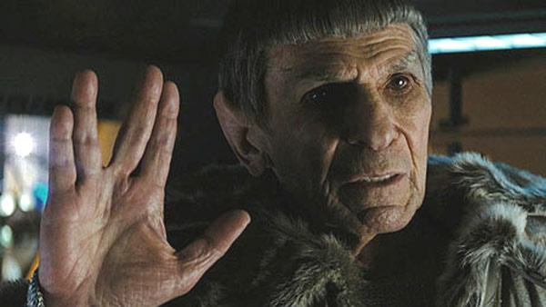 Leonard Nimoy appears in a scene from Star Trek in 2009. - Provided courtesy of Paramount Pictures