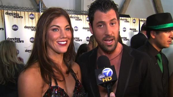 Hope Solo talks to OnTheRedCarpet.com after third 'Dancing With The Stars' results show on Oct. 4, 2011.
