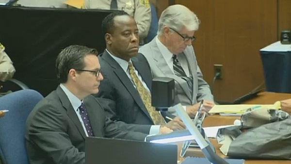 Oct. 5, 2011: Conrad Murray appears at his involuntary manslaughter trial. - Provided courtesy of OTRC