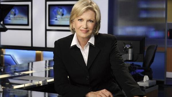 Diane Sawyer appears in a promotional photo for 'ABC's World News'.