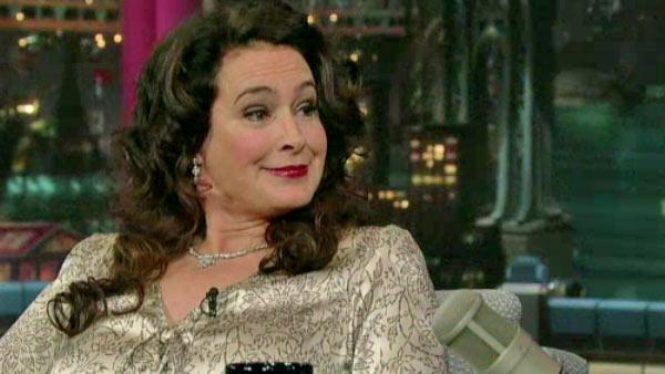 Sean Young appears on The Late Show on October 4, 2011. - Provided courtesy of CBS