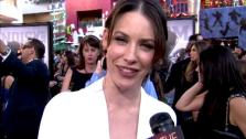 Evangeline Lilly talks to OnTheRedCarpet.com at the Hollywood premiere of Real Steel. - Provided courtesy of OTRC
