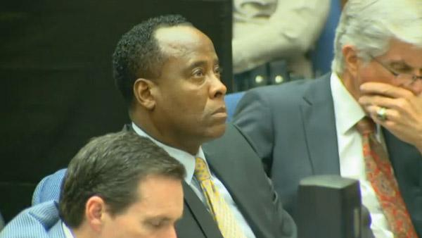 Oct. 7, 2011: Dr. Conrad Murray, charged in Michael Jacksons death, appears in court at his involuntary manslaughter trial. - Provided courtesy of OTRC