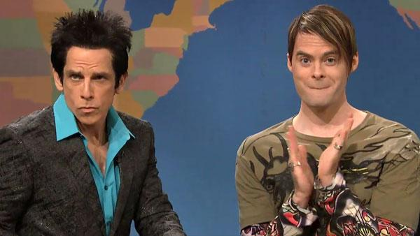 Ben Stiller appears on Saturday Night Live with Andy Samberg on October 8. - Provided courtesy of NBC