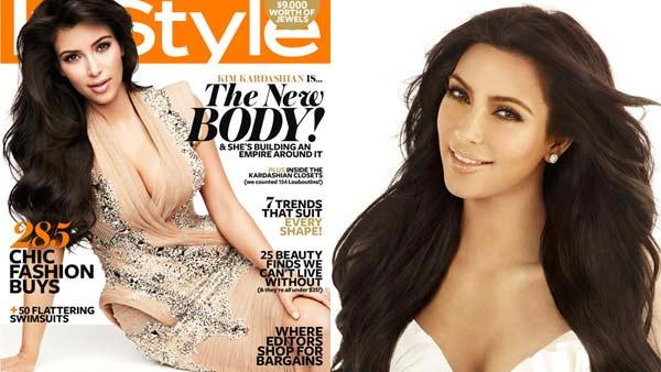 Kim Kardashian appears in a promotional image for Keeping Up With The Kardashians in 2011. / Kim Kardashian appears on the cover of Australias InStyle. - Provided courtesy of E! / InStyle