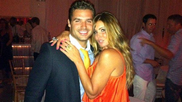 Rachel Uchitel and Matt Hahn appear in a photo posted on Hahn's official Twitter account on June 26, 2011.