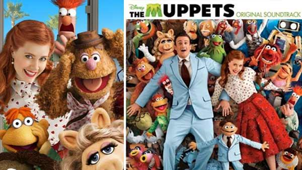 The cover of The Muppets: Original Soundtrack / The Muppets gang with Amy Adams and Jason Segel. - Provided courtesy of Walt Disney Company