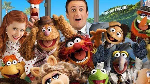 The Muppets gang with Amy Adams and Jason Segel. - Provided courtesy of Walt Disney Company
