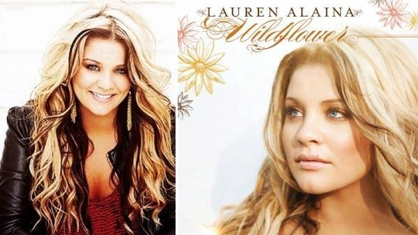 Lauren Alaina appears in a promotional photo. / Lauren Alaina's debut album, 'Wildflower.'