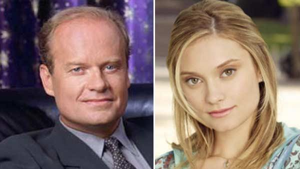 Kelsey Grammer of Frasier and his daughter Spencer Grammer of ABCs Greek appear in publicity photos. - Provided courtesy of NBC / ABC