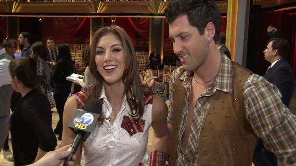 Hope Solo talks to OnTheRedCarpet.com after fourth 'Dancing With The Stars' results show on Oct. 11, 2011.