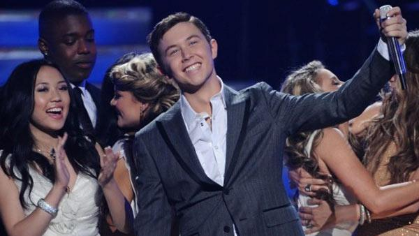 Scotty McCreery appears on stage after being announced as the winner of 'American Idol's 10th season on May 25, 2011.