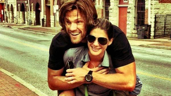 Jared Padalecki and Genevieve Cortese appear in a photo posted on Padaleckis official Twitter page on June 5, 2011. - Provided courtesy of OTRC / Twitter.com/JarPad