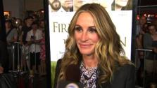 Julia Roberts talks to OnTheRedCarpet.com about Fireflies in the Garden at a Los Angeles premiere in November 2011. - Provided courtesy of OTRC