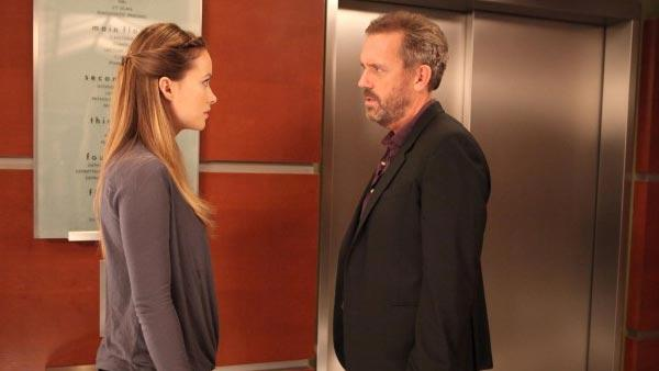Olivia Wilde and Hugh Laurie appear in a still from House in 2011. - Provided courtesy of Fox