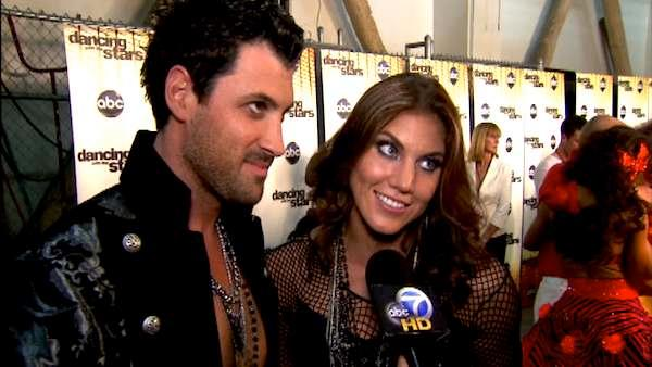 Hope Solo talks to OnTheRedCarpet.com after Dancing With The Stars on October 17, 2011. - Provided courtesy of OTRC