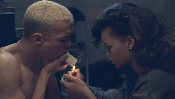 Rihanna and Dudley OShaughnessy appear in a still from her We Found Love music video. - Provided courtesy of The Island Def Jam Music Group