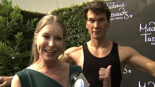 Patrick Swayzes widow Lisa Niemi poses with late husbands wax figure at Madame Tussauds in Hollywood on Oct. 19, 2011. - Provided courtesy of OTRC