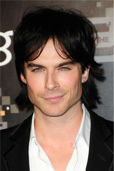 The &#39;1980s-John-Stamos-Hair&#39; stare: Ian Somerhalder appears at the CW Network&#39;s Fall 2011 premiere party in Los Angeles on Sept. 10, 2011. <span class=meta>(Michael Williams &#47; Startraksphoto.com)</span>